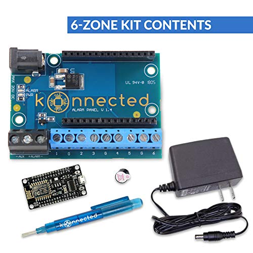 Konnected Alarm Panel Wired Alarm System Conversion kit (6 Zone Kit)