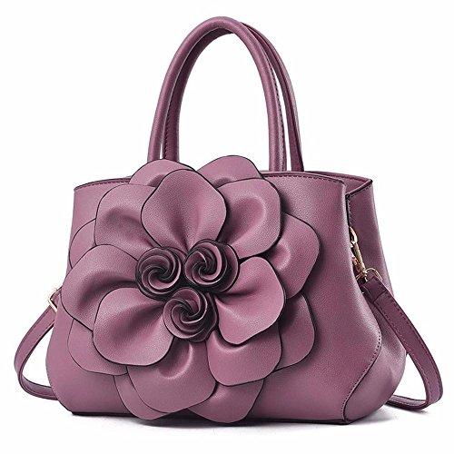 BMKWSG Sacs Messenger Sacs à Main violet bandoulière Femme Fourre Sacs Tout Femmes Simple Sacs à Contemporain PU Gules Mode à Main Cuir rqCrZU