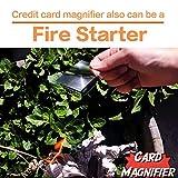 MagDepo 3 Pack Card Magnifier Ruler Fresnel Lens