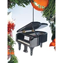 Black Grand Piano Tree Ornament