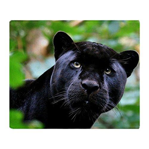 (CafePress Black Panther Cat Soft Fleece Throw Blanket, 50