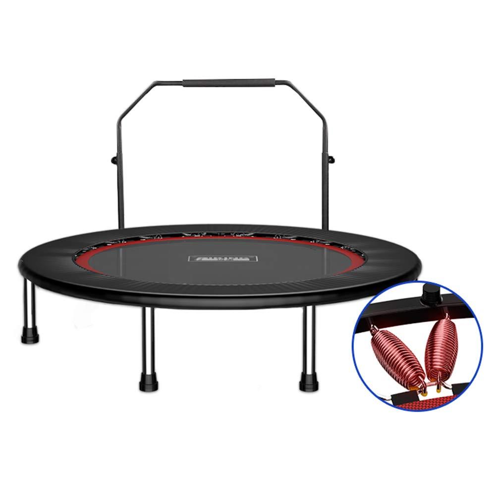 Trampolin, Verstärkung Klapptrampolin Gym Rebounder mit Handlauf Mini Fitness Jumper 40 Zoll Max Load 225KG