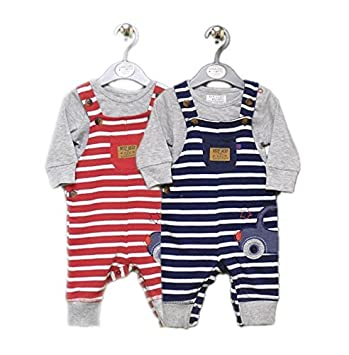Baby Boy Outfit Dungaree And Bodysuit Set 6 9 Months Red Amazon