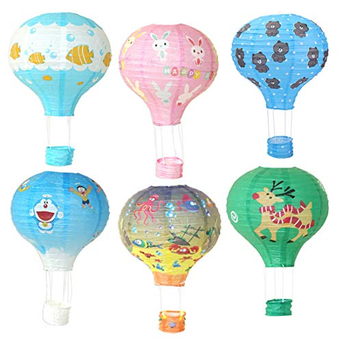 KREATWOW Hot Air Balloon Paper Lantern Decorations Baby Shower Supplies for Boys Girls Birthday Wedding Graduating Christmas Decor