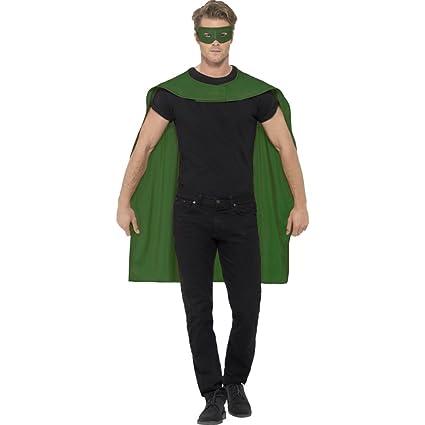 Amakando Disfraz Salvador Capa y máscara de superhéroe Verde ...