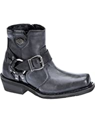 Harley-Davidson Womens Newhall 5.25-Inch Smoke Motorcycle Boots D87139
