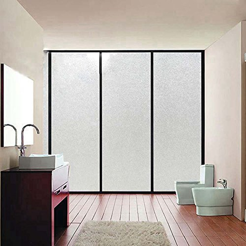 Coavas PVC Frosted Privacy Frost Bedroom Bathroom Glass Window Film Sticker 90*200cm(35.4-by-78.7 Inch)