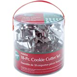 Wilton 2308-1132 Metal Cookie Cutter Set of 18