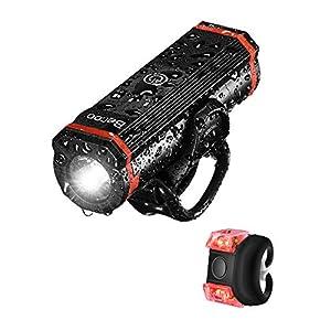 自転車 ライト 充電式 LED 1000ルーメン 高輝度 2600mAh 5つ 照明モード USB充電式 高輝度連続点灯4h