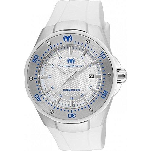 Technomarine Women's TM-215082 Manta Analog Display Automatic Self Wind White Watch