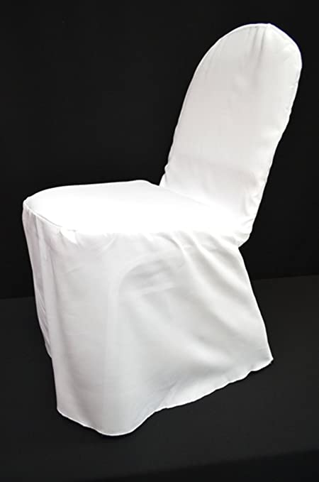 Etonnant 10 Pack Of White Polyester Banquet Chair Covers