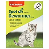 Bob Martin Dewormer Spot On 2 Tube For Cats And Kittens, My Pet Supplies