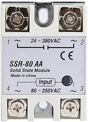 80A Monofásico Módulo de interruptor de relé de estado sólido SSR ...