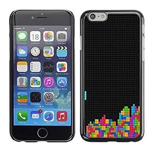 PIG - FOR iPhone 6 - Tetris Gaming Computer Retro Vintage Art Colors - Dise???¡¯???€????€????¡Ào para el caso de la cubierta de pl?