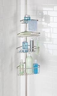 mDesign Organizador de ducha ajustable – Estante para ducha de metal –  Cesta de ducha sin 13802fa5eb92