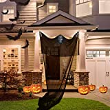 TUPARKA 3 Pcs Halloween Decoration Set, Halloween Hanging Ghost Prop and 2 Pcs Skeleton Hands for Halloween Party Bar Decorations (Black)