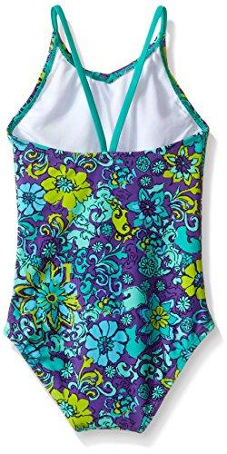 bbf9bcdadf Kanu Surf Big Girls Karlie Flower One Piece Swimsuit, Purple, - Import ...