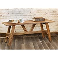 Scandinavian style reclaimed wood coffee table