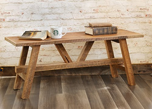 Craftsman Style Rough (Scandinavian style reclaimed wood coffee table)
