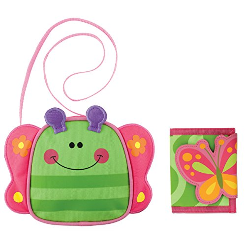 Price comparison product image Stephen Joseph Girls Butterfly Crossbody Purse and Butterfly Wallet for Kids