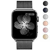 Fening for Apple Watch Band 38mm, Milanese Loop Stainless Steel Mesh For iWatch Band with Magnetic Lock for Apple Watch Series 3 Series 2 Series 1 Edition - Space Gray