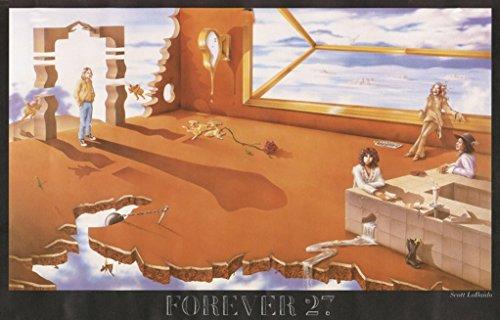 Buyartforless Forever 27 by Scott LoBaido 36x24 Art Print Poster Music Kurt Cobain Morrison Hendricks Janis Joplin