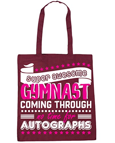 Bag Shopping Autographs HippoWarehouse Awesome Time Gymnast Super Coming Tote Gym No Burgundy 10 Gymnastics Beach x38cm For 42cm Through litres ff61q8r