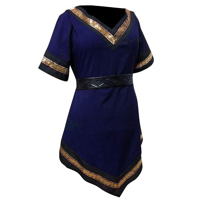 3a7ab6d68c29 WEIMEITE Renacimiento Medieval Trajes Hombres Noble túnica Vikingo ...