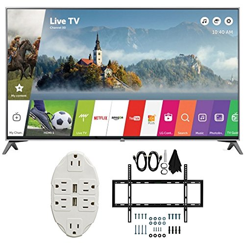 LG-49-Super-UHD-4K-HDR-Smart-LED-TV-2017-Model-49UJ7700-with-Transformer-Tap-USB-w-6-Outlet-Wall-Adapter-and-2-Ports-Deco-Mount-Slim-Flat-Wall-Mount-Ultimate-Bundle-Kit-for-32-60-inch-TVs