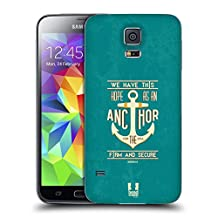 Head Case Designs Anchor For The Soul Christian Typography Series 2 Replacement Battery Cover for Samsung Galaxy S5 / S5 Neo