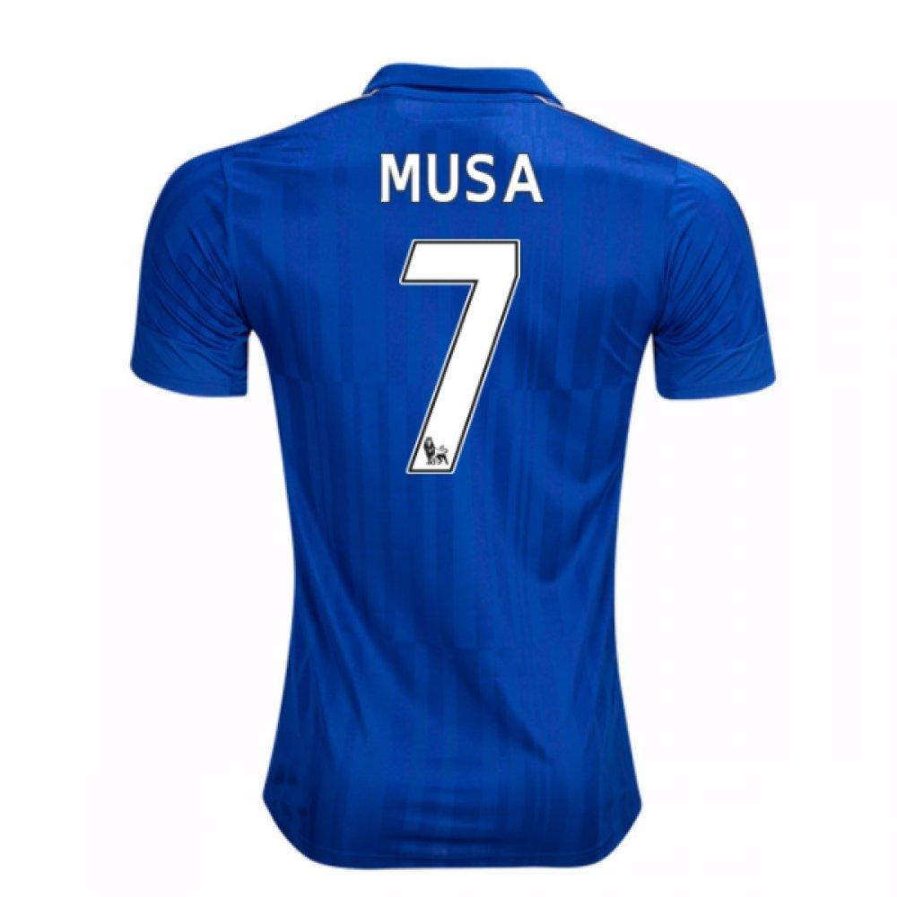 2016-17 Leicester City Home Football Soccer T-Shirt Trikot (Ahmed Musa 7) - Kids