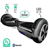 Self Balancing Scooter Hoverboard UL2272 Certified Smart Electric Personal Transportation Bluetooth with LED Light (Black)