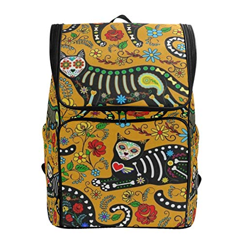 Laptop Backpack Halloween Face Panda Cat School Backpack for Women Large Backpacking Daypack ()