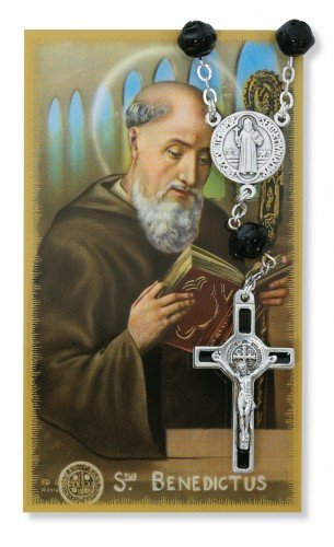 Cards Rosary Prayer (AUTO ROSARY - ST. BENEDICT AUTO ROSARY & PRAYER CARD SET.)