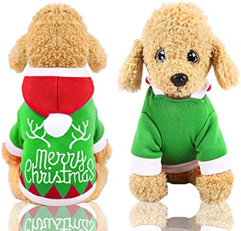 Christmas Dog Clothes for Small Dog Pet Xmas Winter Coat Sweatshirt Clothing Cute Puppy for Dog / Christmas Dog Clothes for Small Dog Pet Xmas Winter Coat Sweatshirt Clothing Cute Puppy for Dog