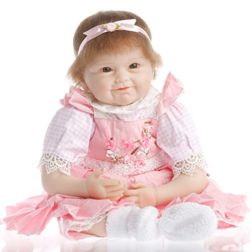 NPK collection Reborn Baby Doll, Vinyl Silicone 22 inch 55 c
