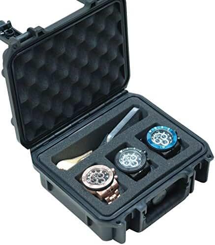 Case Club Waterproof 3 Watch & Accessory Pocket Travel Case