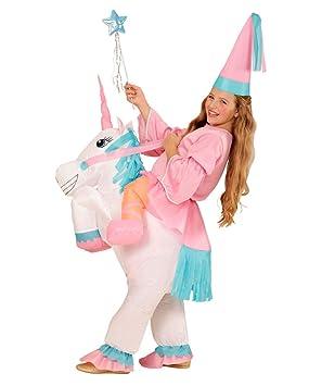 Horror-Shop Traje Inflable Unicornio para Las niñas One Size ...