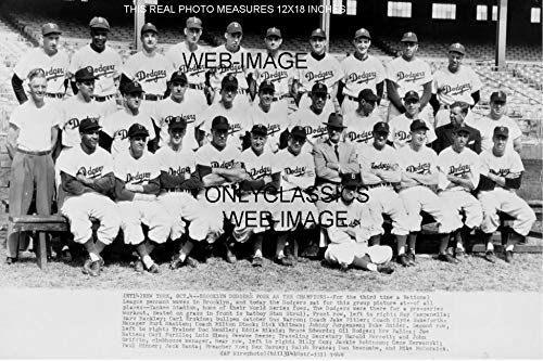 OnlyClassics 1949 Brooklyn Dodgers Baseball Team 12x18 Photo Jackie Robinson, Roy CAMPANELLA+