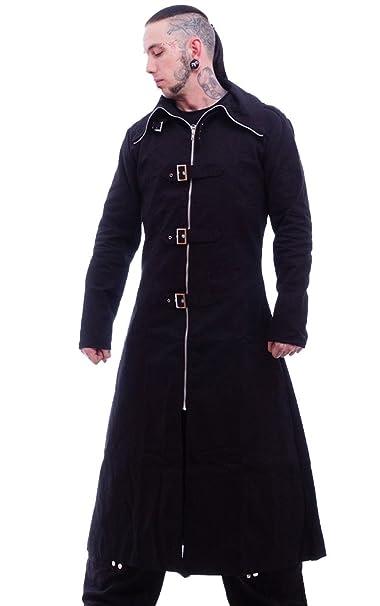 Necessary Evil Highwayman Gothic Full Length Long Mens Coat Black L
