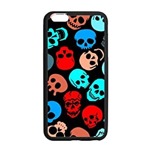 2pcs Skull iPhone 6 plus,6s plus Case-Unique Style Durable TPU Cover Case for iPhone 6 plus,6s plus (Black/white)