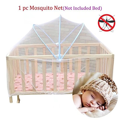 Baby Canopy Net Mosquito Netting Keep Insect Away When Avoid Newborn Fell Down; Playpen Netting Insect Mesh Cover Suitable for Bed Size Smaller Than 100x60cm