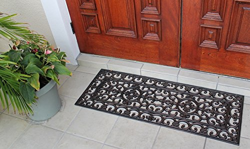 A1 Home Collections A1HOME200093 Rubber Grill Elegant Double Doormat, 17.7