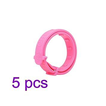 UEETEK 5 piezas Collares antipulgas y garrapatas para Mascotas Perros Gatos (Rosa): Amazon.es: Productos para mascotas