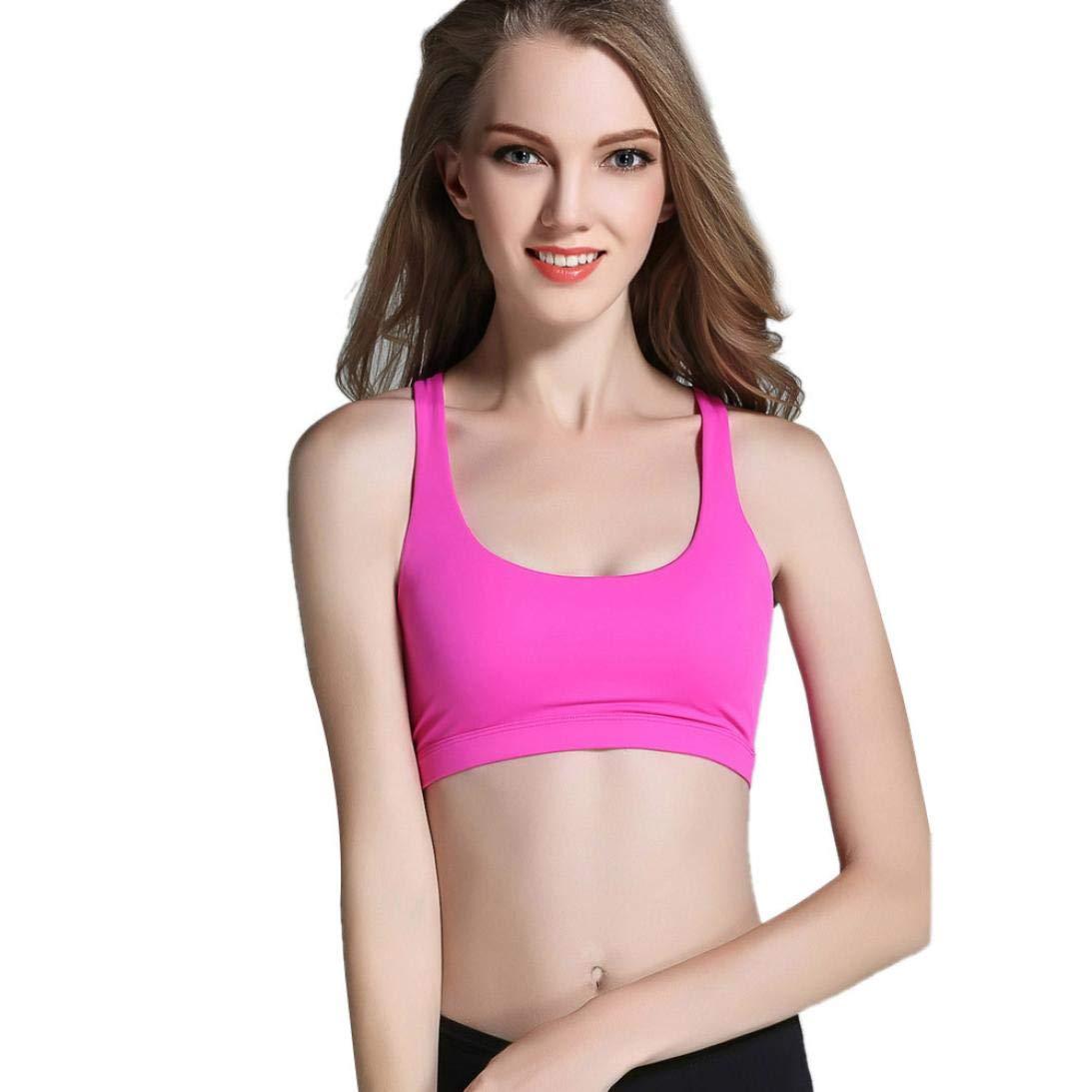 bc6c6a38d1 Amazon.com   Women Sports Bra Sexy Crop Bustier Strapless Comfortable  Nursing Tank Tops (L