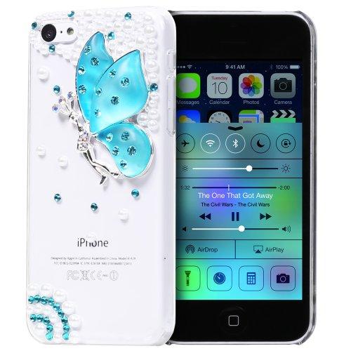 GEM Series 3D Bling Butterfly Design Case for Apple iPhone 5C