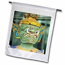 Danita Delimont - Thailand - Art work sculpture of mask in Bangkok Thailand-AS36 BBA0061 - Bill Bachmann - 12 x 18 inch Garden Flag (fl_75581_1)