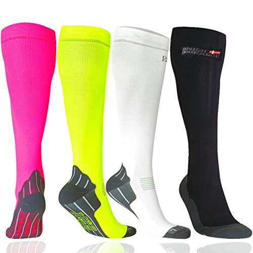 DANISH ENDURANCE Graduated Compression Socks (White 1 Pair, US Women 5-7 // US Men 3.5-6)
