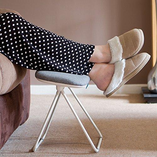 Tilting Leg Rest Stool Foot Rest Leg Support Stool Footstool Grey