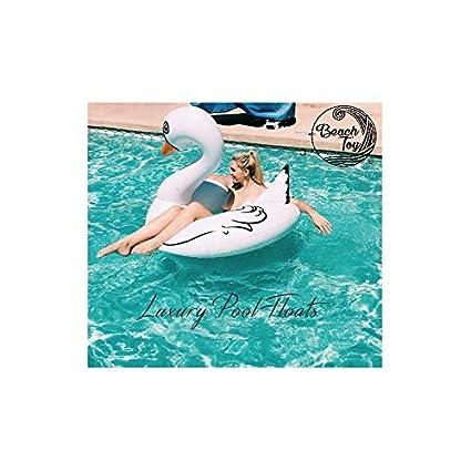 beachtoy flotador gigante hinchable cisne blanco 140 x 120 x 115 cm, talla XXL –